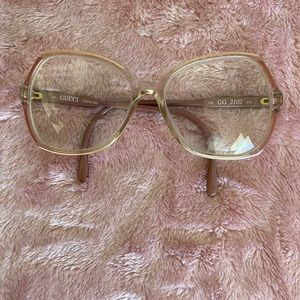 Authentic vintage Gucci 2102 taupe glasses frames